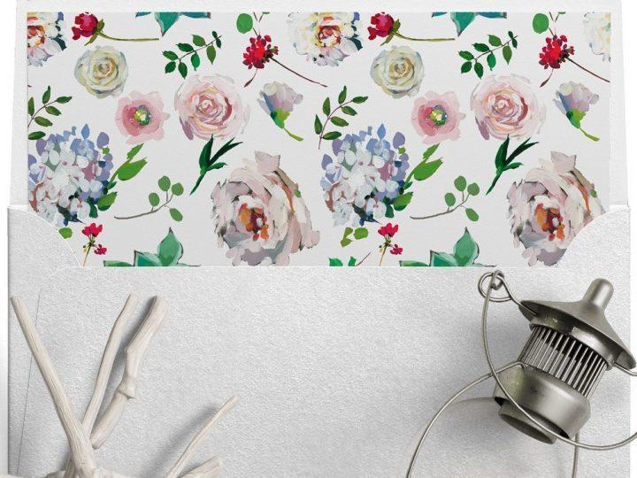 Cute and Free Printable Envelope Liner