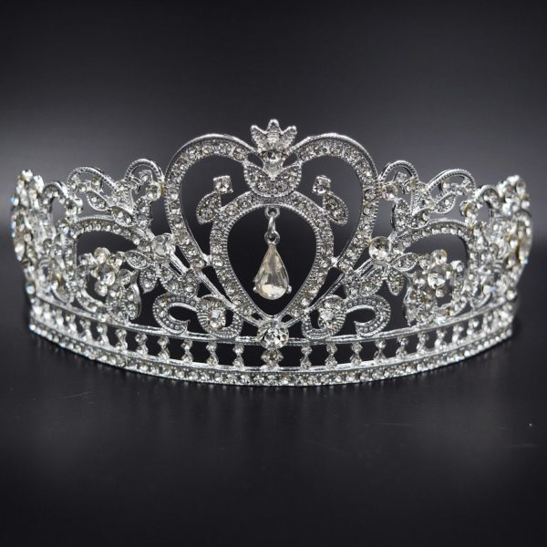 Wedding Crown, Silver Bridal Tiara with Crystals
