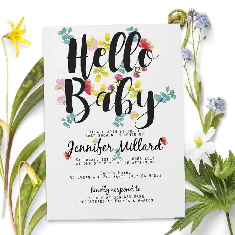 Invitation cards product categories loveateverysight hello baby baby shower party invitation cards personalized and customized baby announcement cards stopboris Gallery