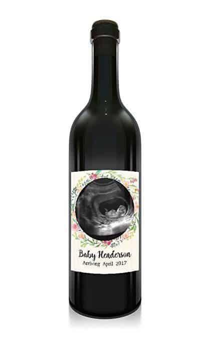 Baby Arriving Wine Bottle Label Stickers