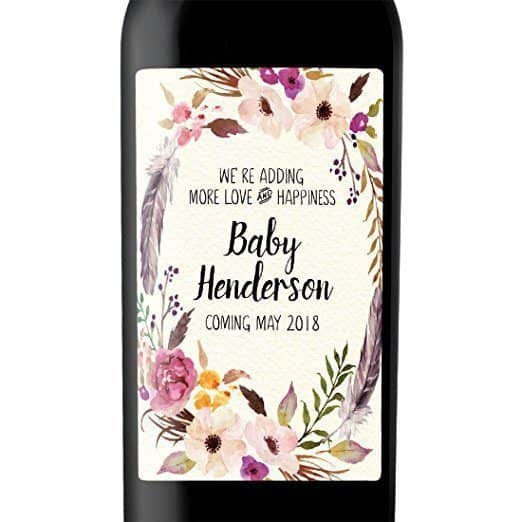 Love and Happiness Wine Bottle Label Stickers