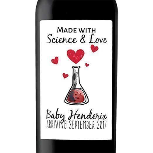 Science and Love Wine Bottle Label Stickers