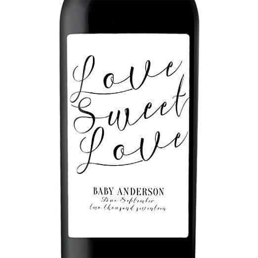Love Sweet Love Wine Bottle Label Stickers