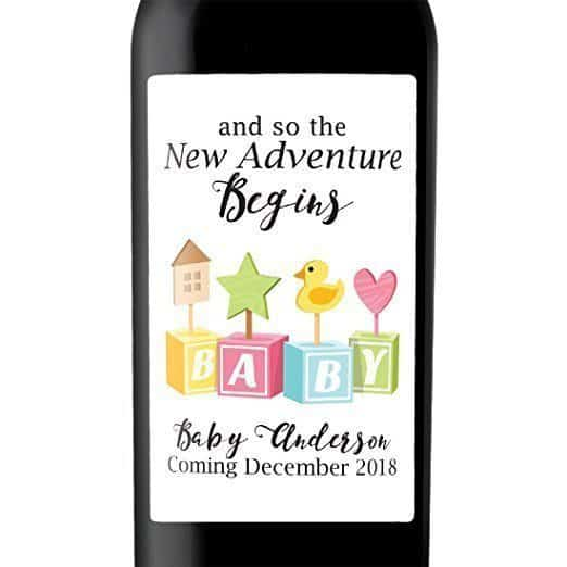 Baby Toys Wine Bottle Label Stickers
