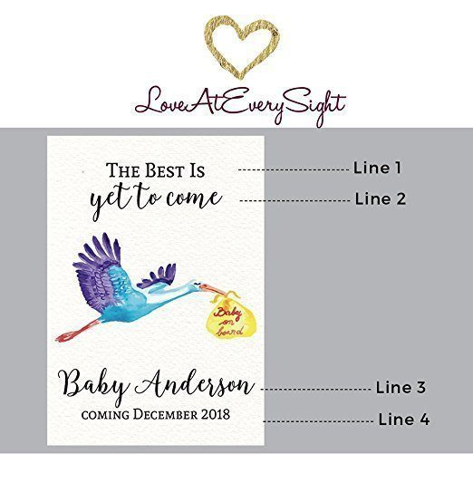 Baby on Board! Wine Bottle Label Stickers