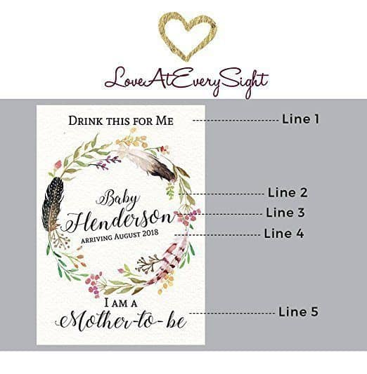 Mother-To-Be Wine Bottle Label Stickers