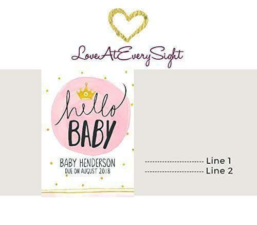 Hello Baby Princess Wine Bottle Label Stickers