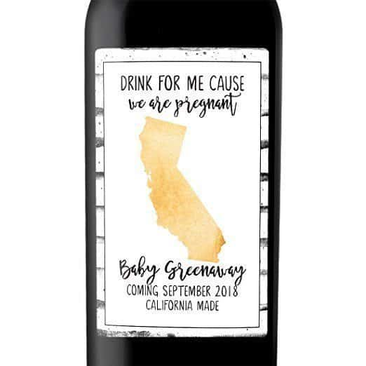 California Made Wine Bottle Label Stickers