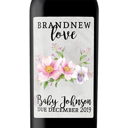 Brand New Love Wine Bottle Label Stickers