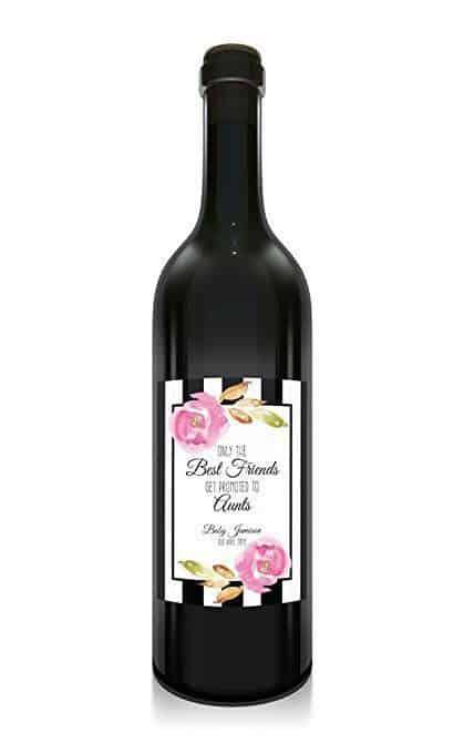 Best Friends to Aunts Wine Bottle Label Stickers
