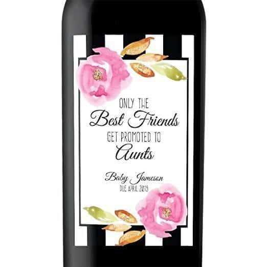 Best Friends to Aunts Wine Bottle Label Stickers