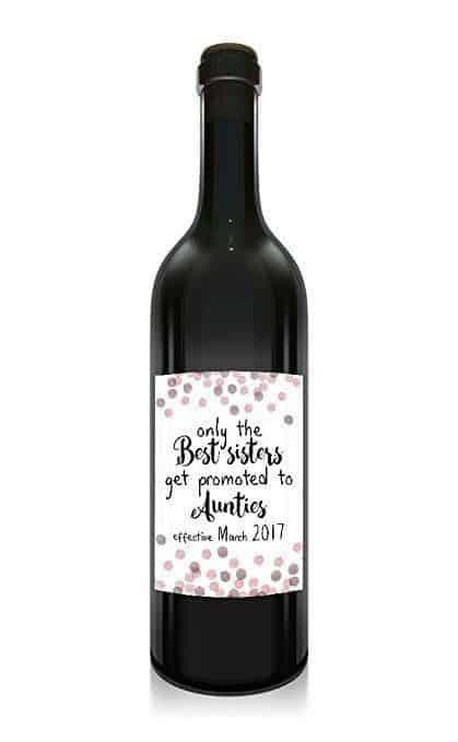 Best Sisters Wine Bottle Label Stickers