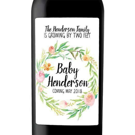 Growing Family Wine Bottle Label Stickers