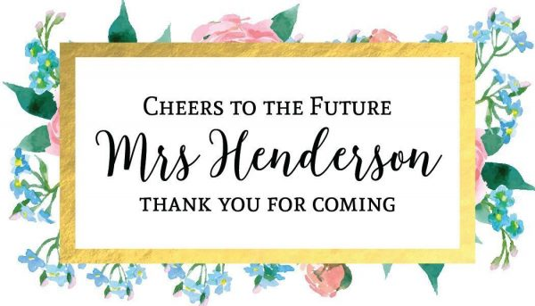 Cheers and Thanks! Mini Champagne Wine Bottle Custom Label Sticker for Wedding Gift, Engagement, Bridal Shower, Bachelorette Party, Elopement Invitation - Specialized Personalized Bespoke Set of 8