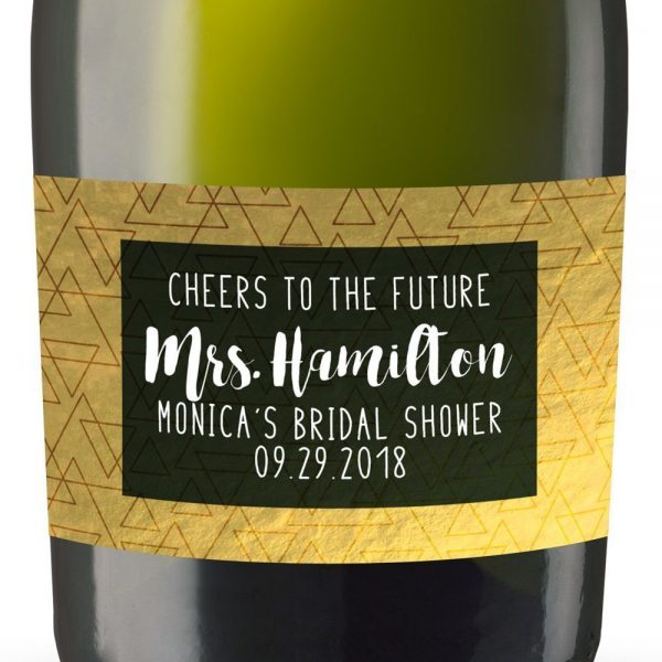 The Future Personalized Mini Champagne Bottle Label Stickers for Bridal Shower, Bachelorette and Engagement Party