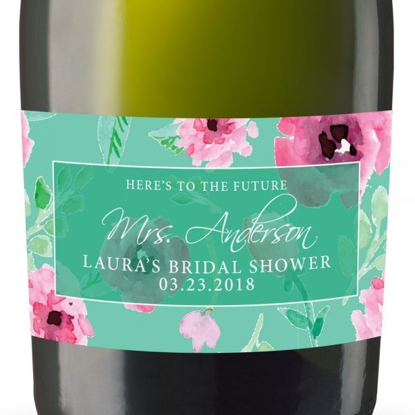 To The Future Personalized Mini Champagne Bottle Label Stickers for Bridal Shower, Bachelorette and Engagement Party