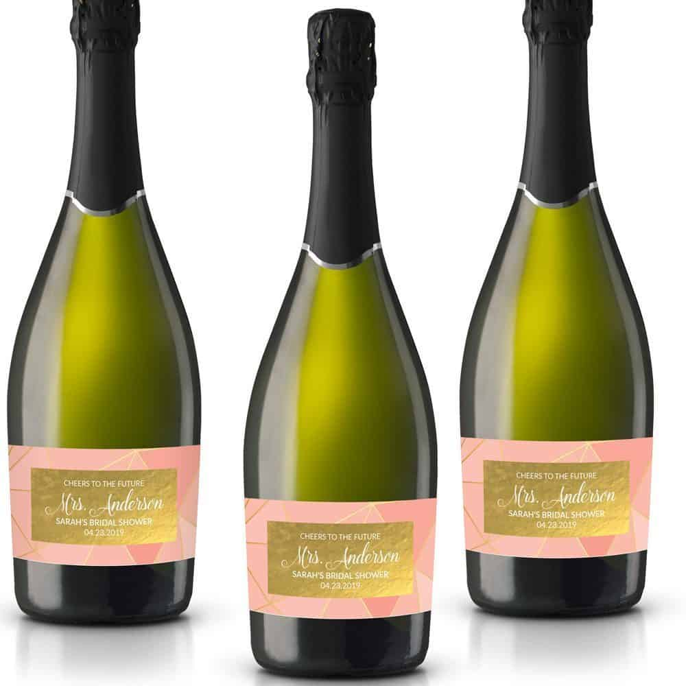 cheers to future personalized mini champagne bottle label stickers