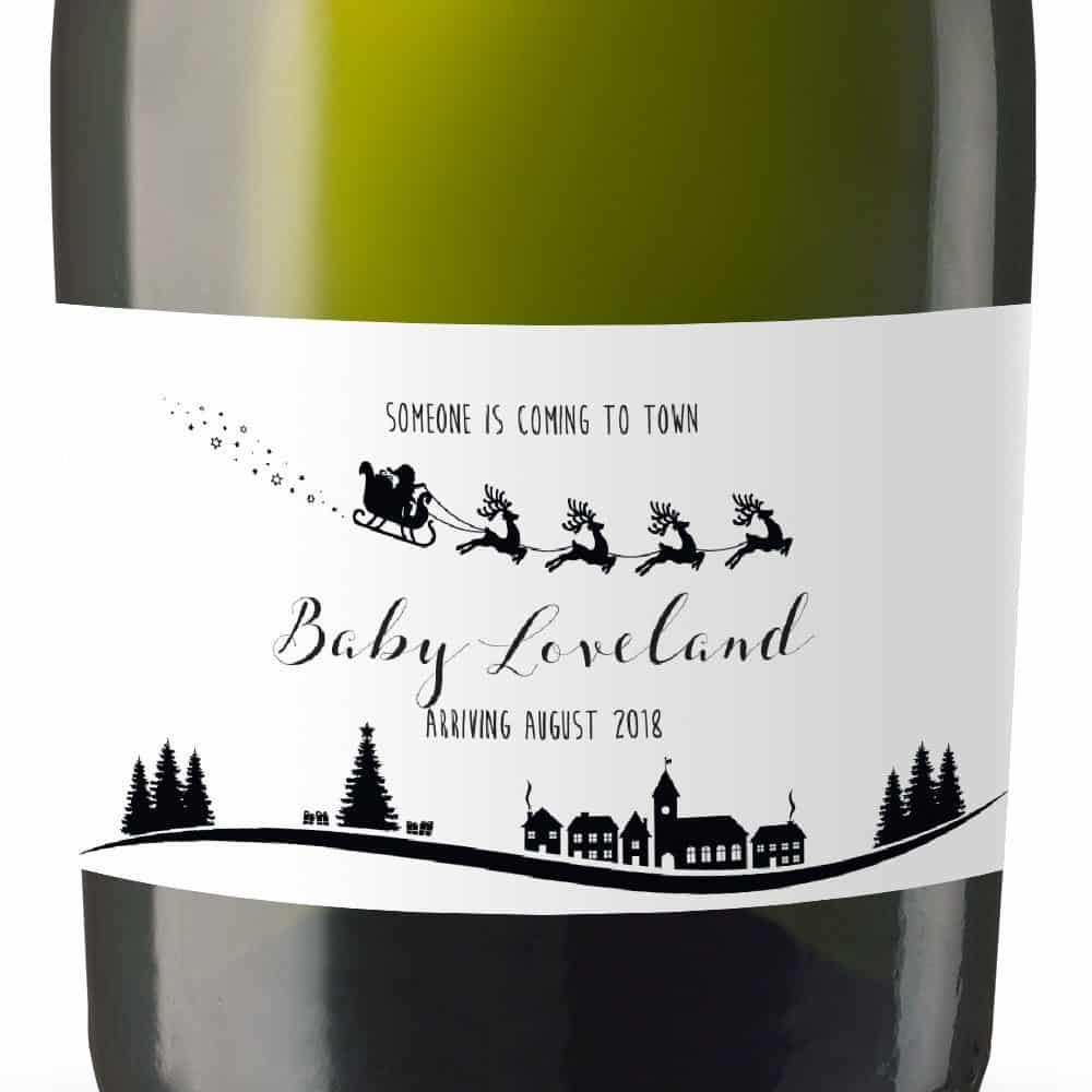 """Baby Loveland"" Personalized Mini Champagne Bottle Label ..."
