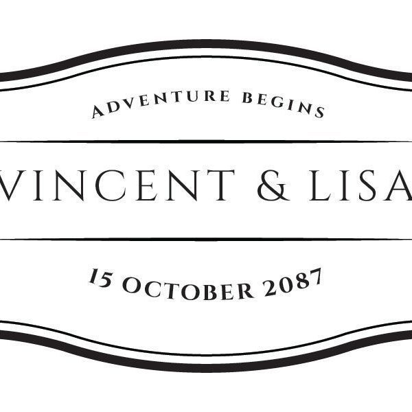 Adventure Begins Mini Champagne Wine Bottle Custom Label Sticker for Wedding Gift, Engagement, Bridal Shower, Bachelorette Party, Elopement Invitation - Specialized Personalized Bespoke Set of 8