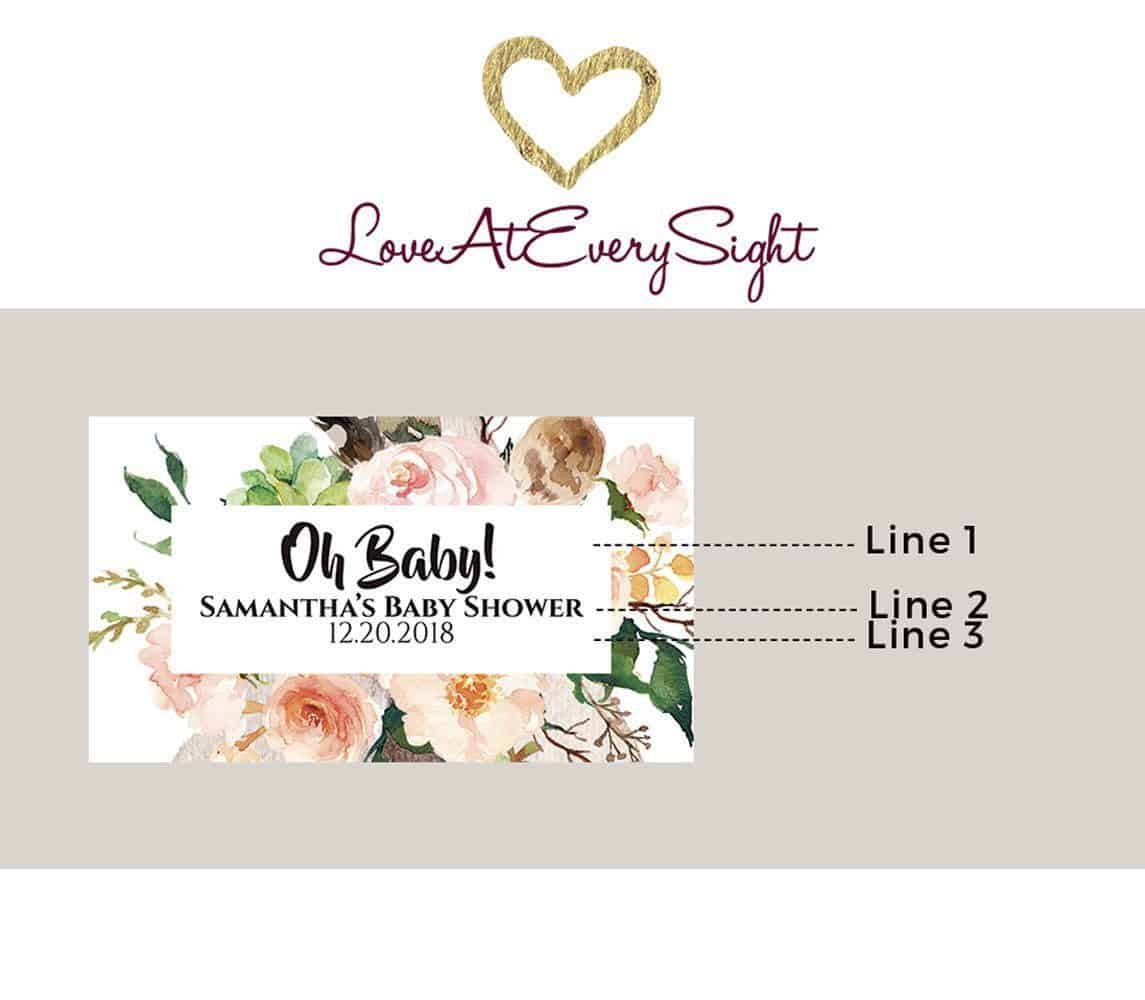 Baby Shower Personalized Mini Champagne Bottle Label Stickers for Baby Shower Party