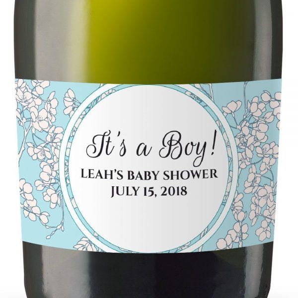 It's A Boy! Personalized Mini Champagne Bottle Label Stickers for Baby Shower Party