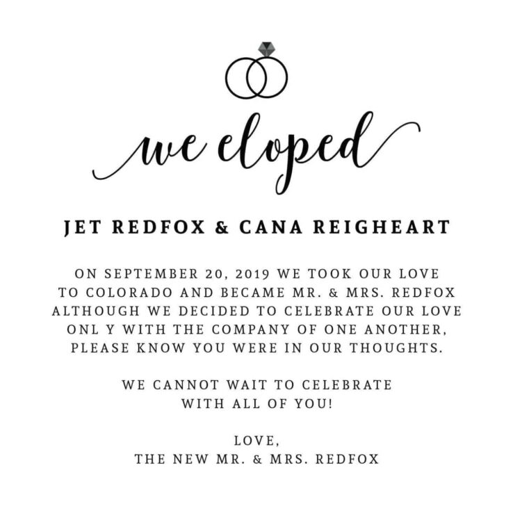 """We Eloped"" Cards, Elopement Announcements, Elopement Cards elopement165"