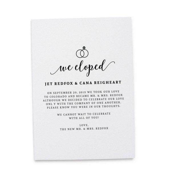 """We Eloped"" Cards, Elopement Announcements, Elopement Cards elopement165"