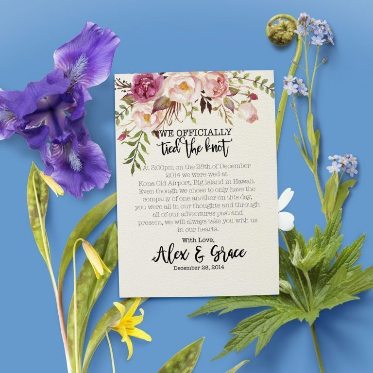 We Officially Tied The Knot Elopement Announcement Cards, Elopement Cards elopement18