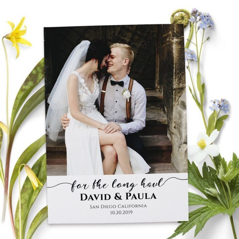 For the Long Haul, Elopement Cards, Add Your Own Photo elopement56
