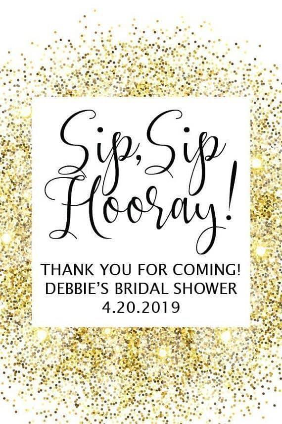 Sip Sip Hooray Bridal Shower Party Invitations Mini