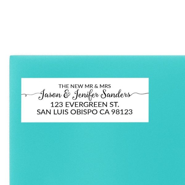 The New Mr. & Mrs. Wedding Return Address Labels, Sold in Set of 30, To Complete Your Wedding Announcement