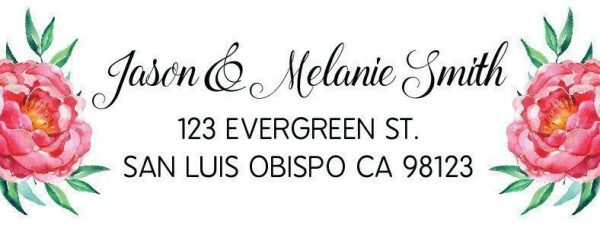 Wedding Address Return Labels for Weddings and Announcement Cards