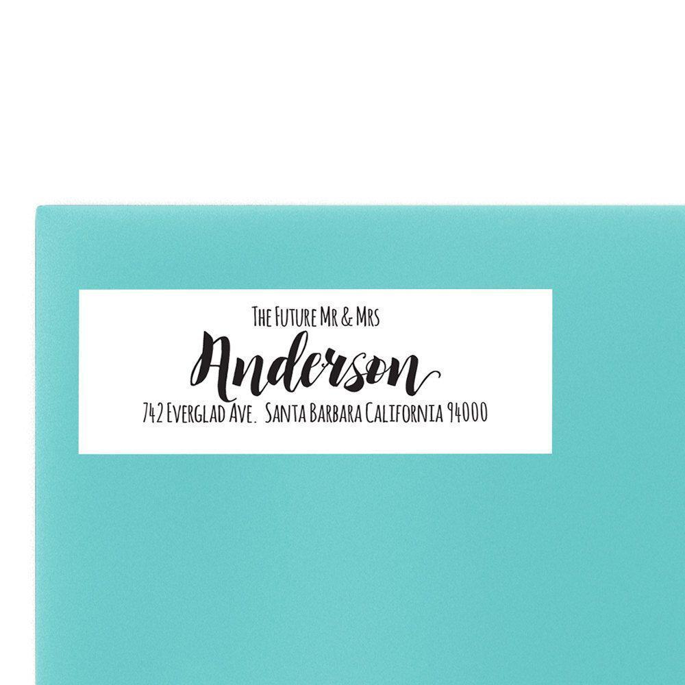 The Future Mr. & Mrs. Wedding Return Address Labels, Sold in Set of 30, To Complete Your Wedding Announcement