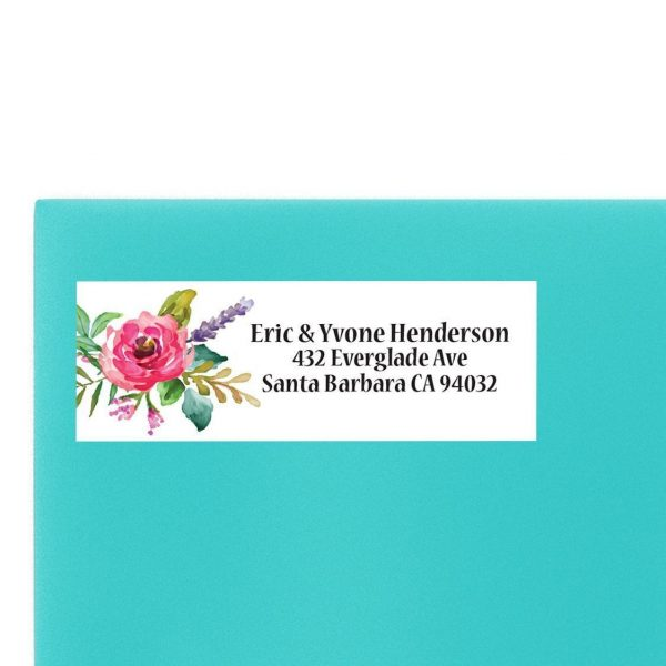Floral Wedding Return Address Labels
