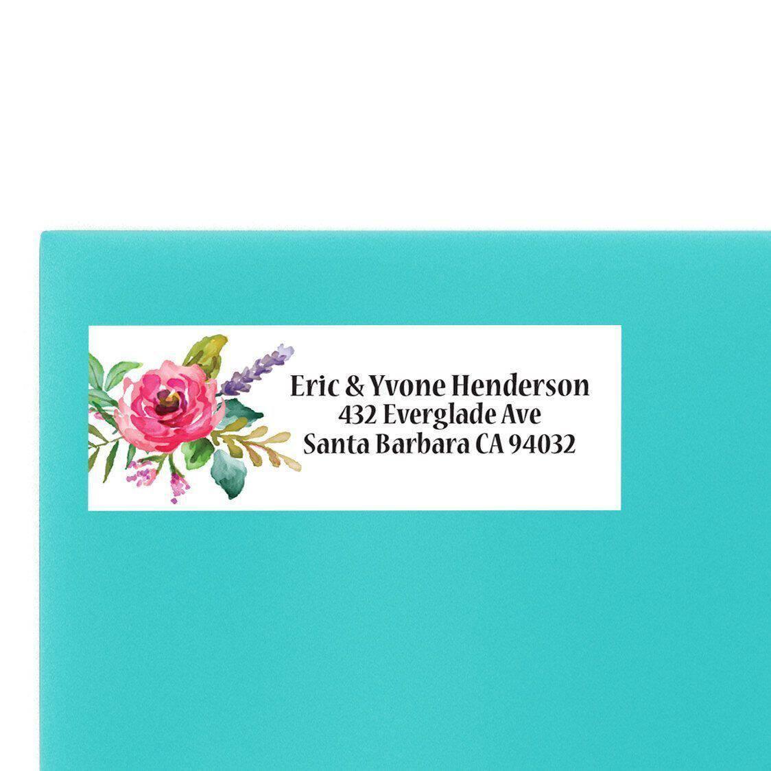Floral Wedding Return Address Labels