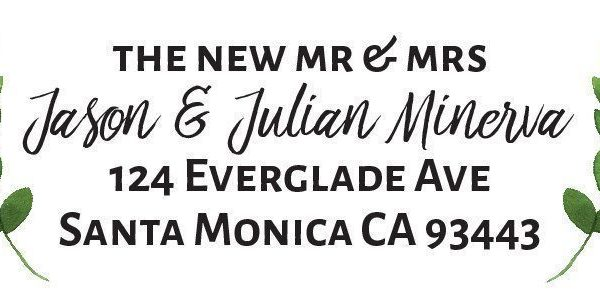 Simple Return Address Labels for Weddings, Parties and Announcements