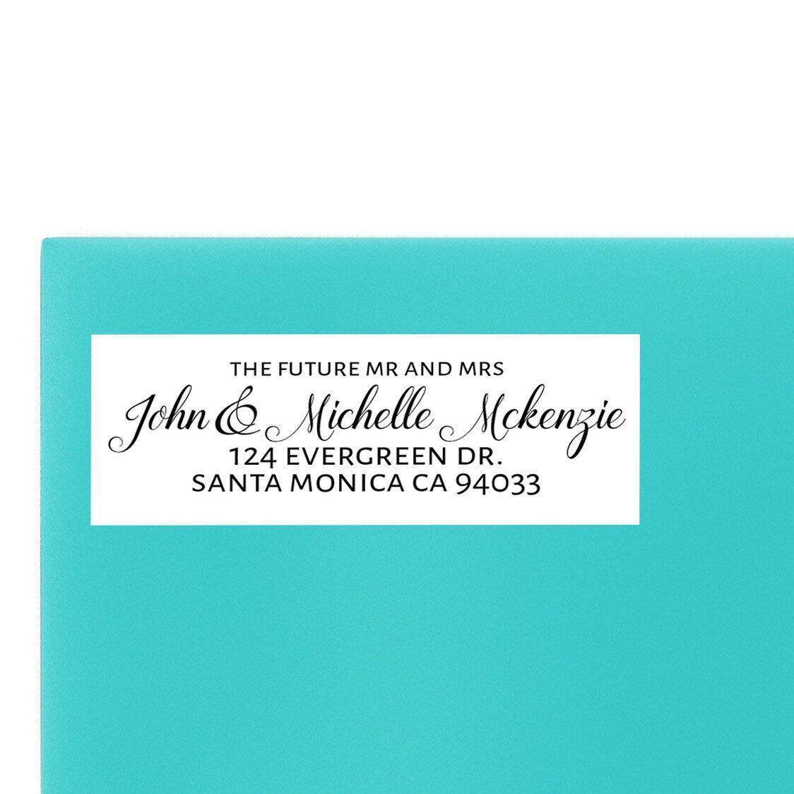 Wedding Return Address Labels, Sold in Set of 30, Personalized for Wedding Invitations