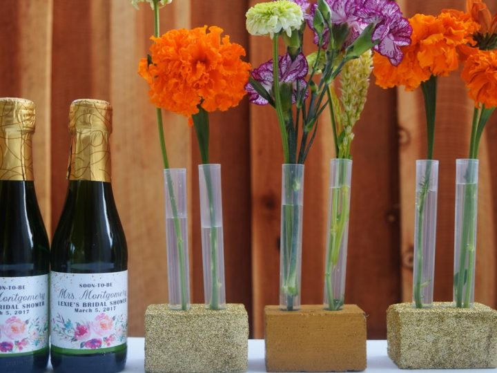 DIY Wedding Party Test Tube Flower Vase for Your Table Top Decoration