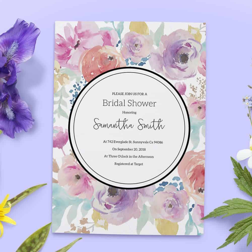 Bridal Shower Invitations, Bridal Shower Cards, Bridal Shower Printable, Rustic and Bohemian Bridal Shower,Tea Party,Garden Party