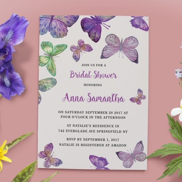 Bridal Shower Invitations, Bridal Shower Cards, Bridal Shower Printable #18, Rustic and Bohemian Bridal Shower,Tea Party,Garden Party