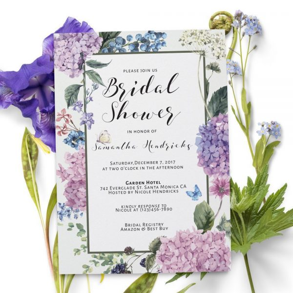 Rustic Bridal Shower Invitation, Bridal Shower Cards, Bridal Shower invitation, Bohemian Bridal Shower,Tea Party,Garden Party