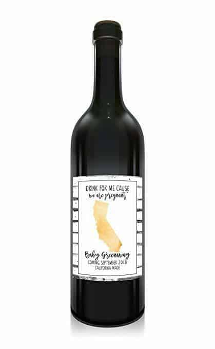 """California Made"" Wine Bottle Label Stickers"
