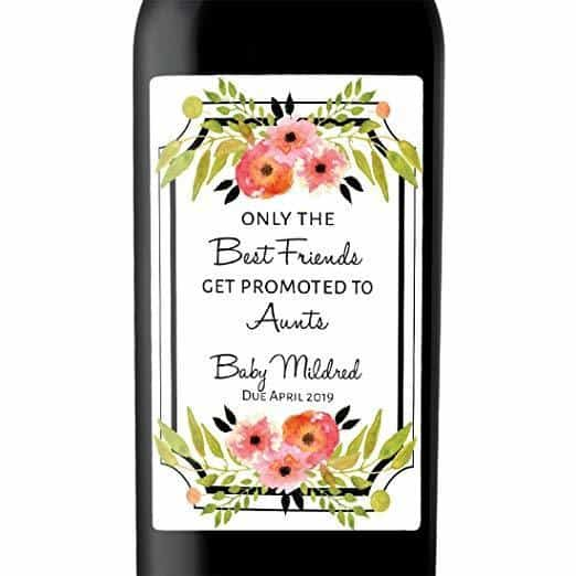 """Only the Best Friends"" Wine Bottle Label Stickers Pregnancy Announcement, Baby Announcement Wine  -   bwinelabel59"