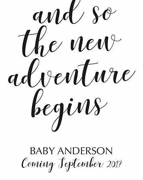 """New Adventure Begins"" Wine Bottle Label Stickers"