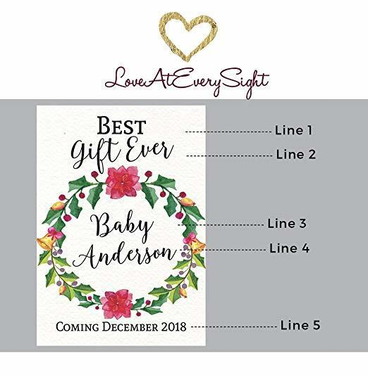"""Best Gift Ever"" Wine Bottle Label Stickers"