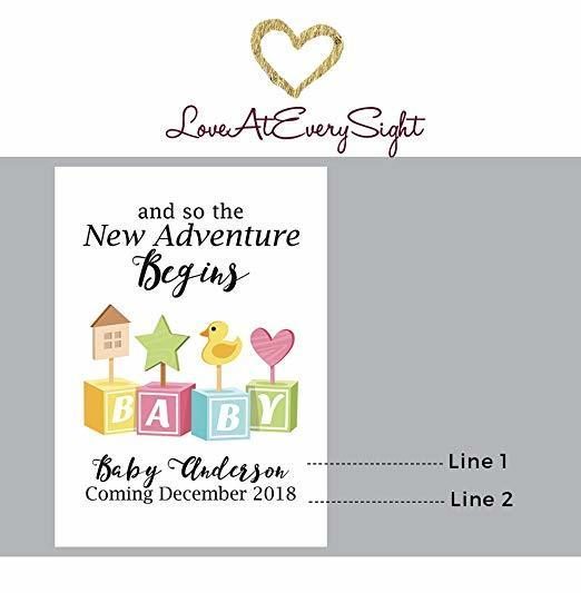 """Baby Toys"" Wine Bottle Label Stickers"