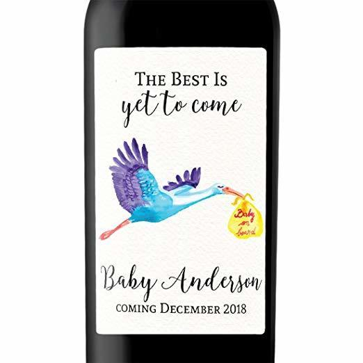"""Baby on Board!"" Wine Bottle Label Stickers"