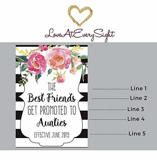 """""""BFF to Aunties"""" Wine Bottle Label Stickers"""