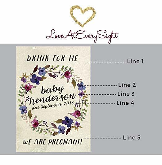 """Drink for Me"" Wine Bottle Label Stickers"