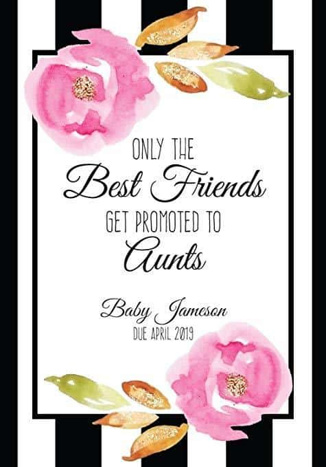 """Best Friends to Aunts"" Wine Bottle Label Stickers Pregnancy Announcement, Baby Announcement Wine  -   bwinelabel58"